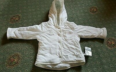 New Baby's white reversible jacket 3-6 months