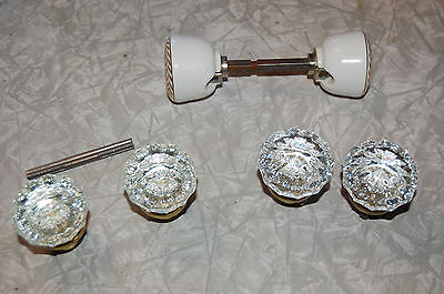 Vintage Glass and Porcelain  Door Knobs