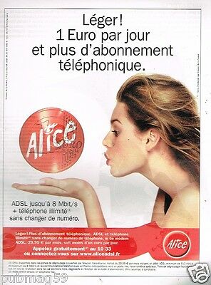 Publicité advertising 2005 Alice