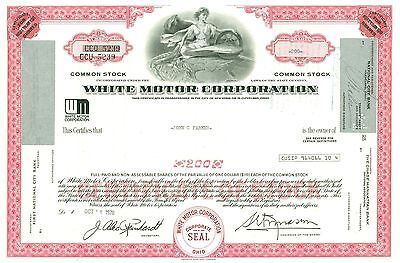 1978 White Motor Corporation Red Stock Certificate