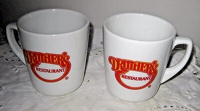 **pair Of Druther's Restaurant Advertising Coffee Mugs Ultima China**