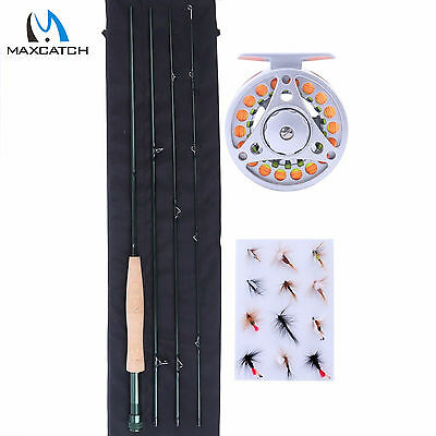 """Maxcatch Fly Fishing Combo Outfit 8'4"""" 3WT Fly Rod, Fly Reel, Fly Line, Flies"""