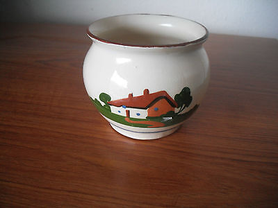 "Torquayware Sugar Bowl with Motto ""There be more in the Larder"""