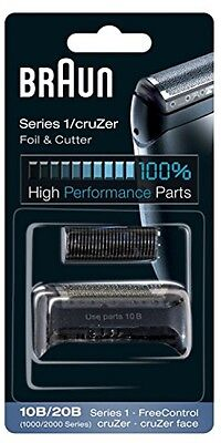 Braun 10B/20B Electric Shaver Replacement Foil And Cutter - Black