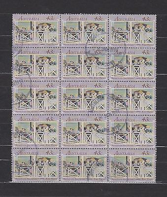 Australia (2) - Another Good Lot Of 15 Used Stamps In A Block - See Scan.
