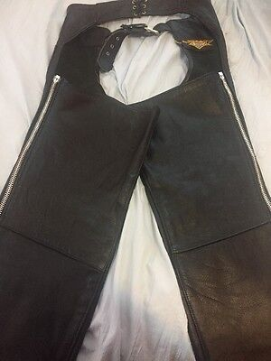 Universal Rider - Made in USA leather motorcycle Chaps - Size M