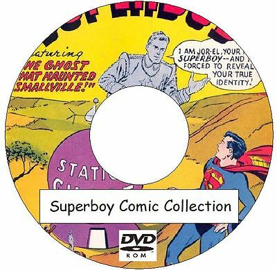 Superboy Comic Collection 230 issues plus annual on DVD classic vintage comics