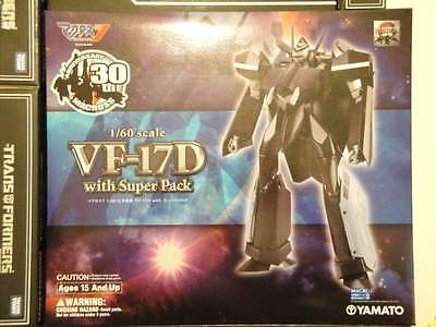 YAMATO ROBOTECH MACROSS 7 30th Anniversary VF-17D + SUPER PACK Scala 1:60 Nuovo!