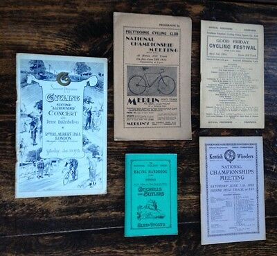 Five Vintage Cycling Programmes from 1931/32