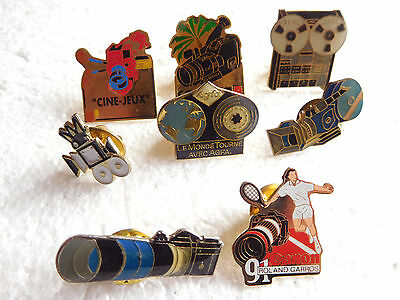 Job lot of 8 vintage camera photography related metal lapel pins