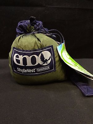 Eagles Nest Outfitters ENO SingleNest Hammock - Navy/Olive *NEW*