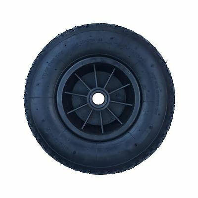 "12"" Black Pneumatic Wheel 4.00-6 Sack Truck Trolley Wheelbarrow Wheel 16Mm Bore"