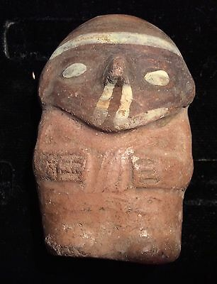 Ancient Peru Miniature Painted Clay Doll - CHANCAY  1000-1470 wearable