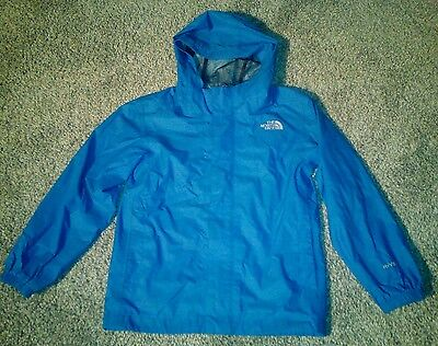 THE NORTHFACE Boys Blue thin HYVENT Fall Spring hooded jacket SIZE SMALL 6-7