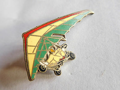 Vintage Microlite hand gliding related metal lapel pin