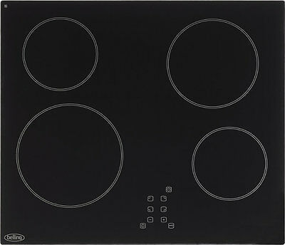 Belling CH60TX Frameless Touch Control Ceramic Hob