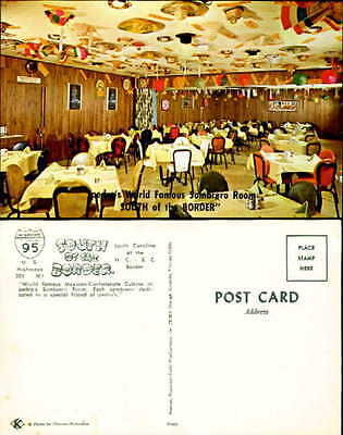Sombrero Room South of the Border Mexican-Confederate Cuisine chrome restaurant