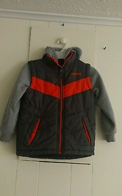 Boys Size 4 Pacific Trail Sweatshirt Vest Coat with Hood