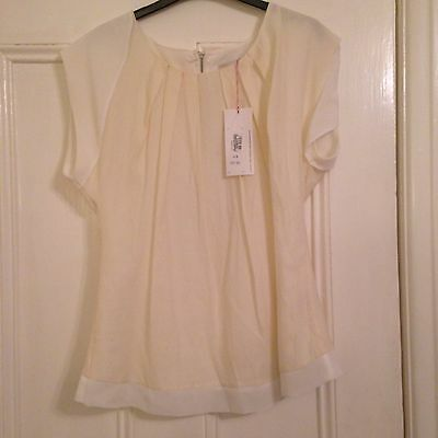 Bnwt Tags Ladies Cream Blouse Size 14 By Per Una