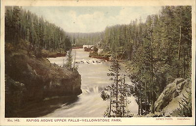 Rapids above Upper Falls Yellowstone Park Haynes Photo