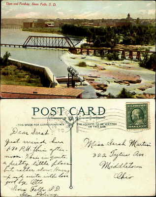 Greetings from Sioux Falls South Dakota 1910