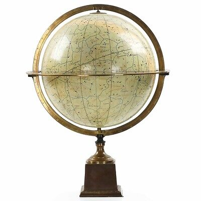 French Antique Celestial Table Globe by Charles Dien for Bertaux, 19th Century