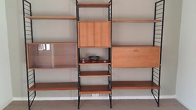 Staples Ladderax mid-century shelving system with extras see photos.