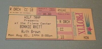 1994 Bonnie Raitt Concert Ticket Stub Wolf Trap Virginia Vintage Music Souvenir