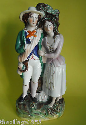 STAFFORDSHIRE / Antique Large Figurine / Couple