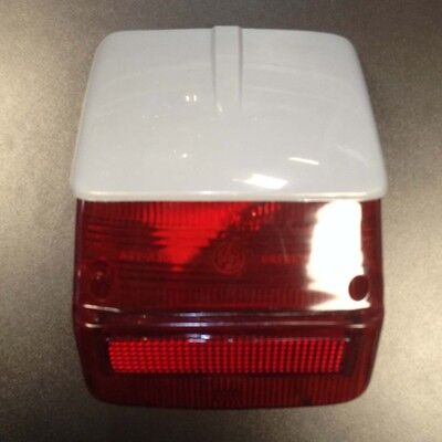 Rear light / tail lamp lens with grey top for Vespa Sprint / Rally