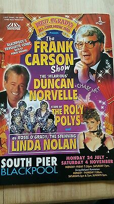 Rosie O`grady`s All Star Music Hall The Frank Carson Show Official Programme