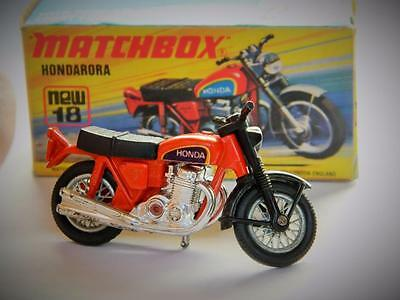Matchbox Lesney Superfast Hondarora Motorcycle #18 In Good Original I Box 1974