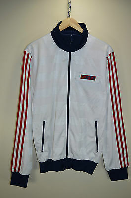 vtg 70s STYLE ADIDAS ORIGINALS CASUALS RARE TRACK JACKET TRACKSUIT TOP SIZE M