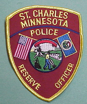 St. Charles  Minnesota  Mn  Reserve Officer  ( Yellow Border )  Police Patch