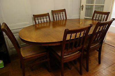 Elegant Antique Dining Table and Six Chairs