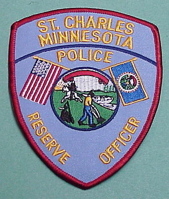 St. Charles  Minnesota  Mn  Reserve Officer  ( Red Border )  Police Patch