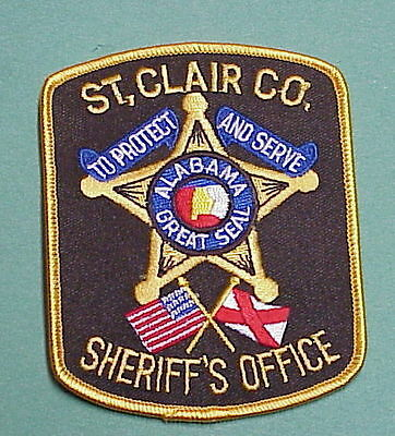 St. Clair County  Alabama  Al  Sheriff /  Police Patch   Free Shipping!!!