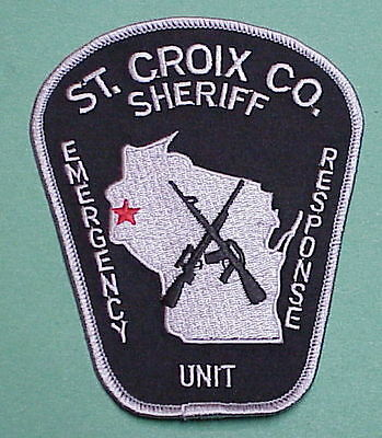 St. Croix Co. Emergency Response Unit  ( Silver Border ) Sheriff /  Police Patch