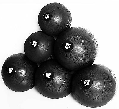 Slam Ball 8 LB Fitness Solutions LLC Medicine Ball With Rubber Shell Medicine