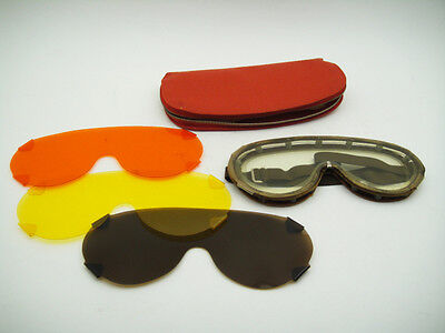 VINTAGE SWISS Meiss SNOW ALPINE ARTIC SKI GOGGLES RETRO EXPEDITION SPACE AGE