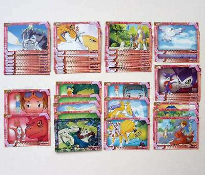 Japanese Digimon Tamers Perfect Cards Lot of 47 Guilmon Renamon Terriermon Prism