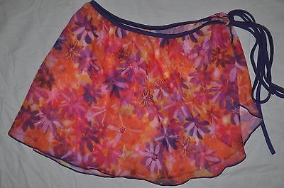 NWT Bal togs  Adult S/M sheer Bright colored dance ballet wrap performance skirt