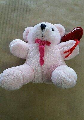 Pink I Love You Bear Holding Heart