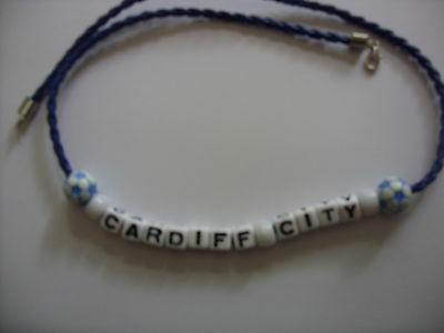 cardiff city football necklace