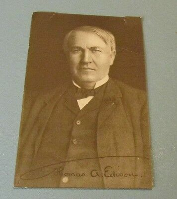 Vintage Thomas Edison Amberol Records Phonograph Advertising Postcard Sized Card