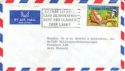 CAYMAN ISLANDS Luftpostbrief  air mail cover 1975