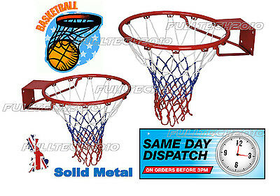 """Full Size Basketball Ring Hoop Net 18"""" 45cm Wall Mounted Outdoor Hanging"""