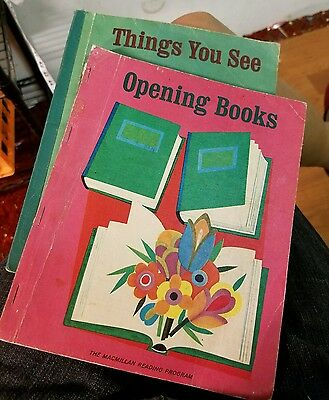 2 VINTAGE Things You See Opening Books Macmillan Company Reading Program School