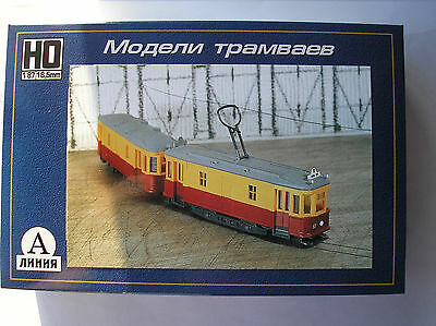 HO scale CCCP USSR Russian Sovjet two car freight trolley kit