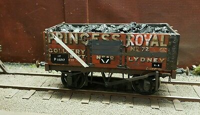 O Gauge 7Mm Scale Br Ex Po Wagon Weathered With Coal Load Princess Royal
